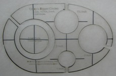 Circle templates for 7 inch diameter circle template